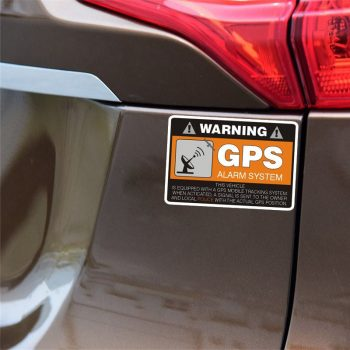 4 stickers warning gps alarm system