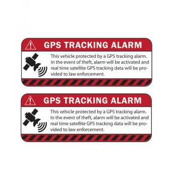 2 stickers gps tracking alarm